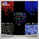 防水クリスマスの装飾LED白いPVCワイヤー青いストリングライト