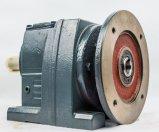 Caixa de engrenagens chanfrada helicoidal da série de R com o motor engrenado flange do IEC
