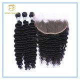 Spitze-Stirnbein der Qualitäts-Vor-Zupfen peruanisches Jungfrau-13*4 mit Haar-Zeile und schnelle Anlieferung Lf-007