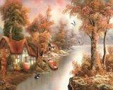 Peinture d'huile décoratifs en bois Panneau mural en plastique