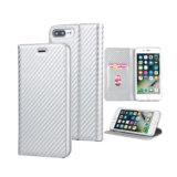 と銀色のiPhone 7/8のためのPUの携帯電話の札入れの箱