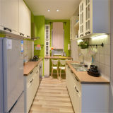 暖かいカラーヨーロッパ式PVC台所デザイン