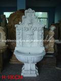 Fontana di parete di marmo bianca intagliata mano (SY-WF002)