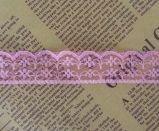 훈장을%s 형식 2.2cm 고무줄 자수 꽃 레이스