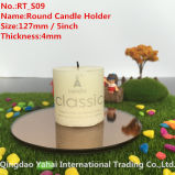 4mm Round Brown Glass Mirror Candle Holder