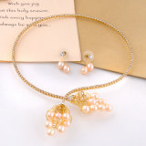 韓国様式のアクセサリの女性の卸売のジルコンの真珠の宝石類セット