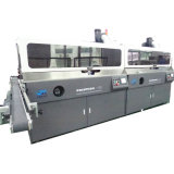 Prix de machine d'impression automatique d'écran en soie de quatre couleurs avec le traitement UV et de flamme