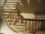Escalera de acero moderna de madera de la quilla de los materiales de construcción