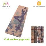 Het vouwen van Cork de Overgegaane Mat van de Mat van de Yoga SGS met Cork Durable&Soft