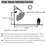 150のLEDの太陽洪水ライトマイクロウェーブレーダーセンサーの緊急の機密保護ライト屋外の庭の経路の壁ランプ