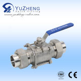 3PC manual Non-Retention Ball Valve Ss304/Ss316L