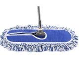 Mop di pulizia di Microfiber con il rilievo blu e bianco di colore