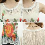 Sweat à manches courtes Karen Ladies Flora Pattern Hi-Lo Hem Vest