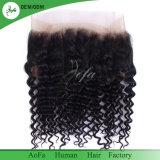 Preto natural de cabelo humano Lace 360 Frontals para venda por grosso
