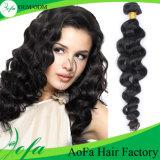 純粋な100%年の毛の拡張ブラジルのバージンの人間の毛髪