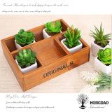 Hongdao hölzerner Geschenk-Kasten-hölzerner Ablagekasten für Flower_D