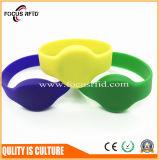 Wristband impresso da borracha da cor cheia RFID