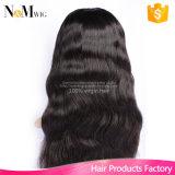 La perruque de la partie U malaisienne Glueless Le meilleur bouchon de qualité des cheveux humains avec des peignes et des sangles Noirs bleachés Perruques en dentelle