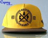 Fábrica amarilla del estilo del sombrero del Snapback del algodón