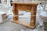 Custom старинных каменных травертина мраморный камин (Си-MF413)