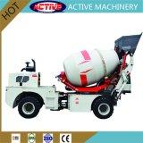 Marca ativo 2,0 m3 betoneira portátil com pneus semi-sólido espesso para venda