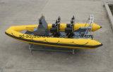 Спасение рыбацкой лодки/нервюры Китая Aqualand 19feet 5.8m твердое раздувное/патруль/шлюпка подныривания (rib580t)