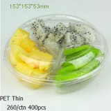 Fábrica Custom High Quality Black Plastic Blister Trays para embalagem de frutas / carnes