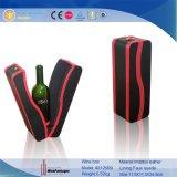 Rectángulo de cuero de empaquetado de lujo hecho a mano del vino del regalo de la PU del almacenaje de la visualización