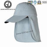 Smart Casual deportivo transpirable gorra de béisbol con la protección de cuello