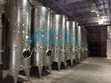 ワインおよびビールによって冷却されるステンレス製の円錐発酵槽