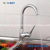 Chauds neufs choisissent le robinet en laiton de cuisine de mélangeur de taraud d'eau de chrome de traitement