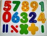 Lettere educative di legno del magnete del frigorifero