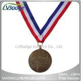 리본 방아끈을%s 가진 주문 스포츠 포상 금속 메달