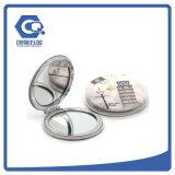 Espelhos Pocket de cristal de dobramento compatos personalizados do metal do Portable 70mm da forma