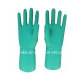 Зеленый Маслостойкий нитриловые перчатки, устойчивые к домашних хозяйств