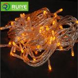 Cobre LED cadena luces con pilas de la luz de la Navidad