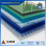 Hoja azul Claraboya de policarbonato hueco Roofing