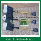 Pá que cultiva a pá de madeira da pá do punho da ferramenta com aperto plástico