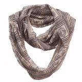 Écharpe Chiffon d'infini de polyester estampée par Apollo de mode de femme (YKY1107)