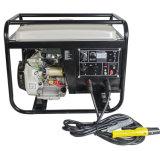 beweglicher Gleichstrom Wechselstrom-5kw, der elektrischen Anfangsbenzin-Generator schweißt