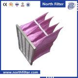 Низкий фильтр карманн стеклоткани сопротивления для Ahu