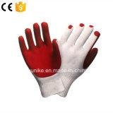 Хлопок с покрытием из латекса безопасности резиновые перчатки для рук вещевого ящика