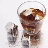 El Whiskey de acero inoxidable de piedras de hielo vino reutilizables.
