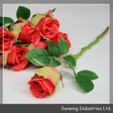 Sale를 위한 결혼식 Decoration Cheap Plastic Artificial Silk Flower