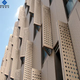 PE/PVDF revêtement en aluminium à revêtement de couleur tôle perforée mur-rideau