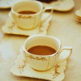 세라믹 커피 잔 고정되는 간단한 창조적인 돋을새김된 금박