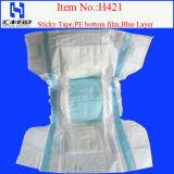 Couches pour bébés jetables avec des fuites de garde et Couche bleue (H421#) (H421)