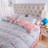 2017 새로운 디자인은 폴리에스테 침실 침대 시트 세트를 솔질했다