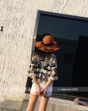 女性のコレクションの秋の冬Longsleeveに新しいレースのブラウスをくり抜きなさい
