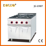 Op zwaar werk berekende Apparatuur 4 van de Catering het Kooktoestel van het Gasfornuis van LPG van de Brander met Kabinet